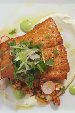 pan roasted chilean salmon