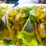 shrimp and avocado tacos